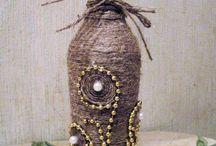 Декоративные бутылочки, вазы