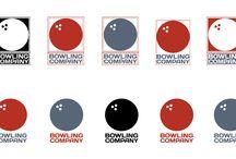 Bowling Company / Criação e desenvolvimento do logotipo com variações de cores no estilo americano.