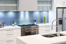 Light coloured kitchens