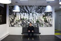 Jungle Paint / Canvas for IPG Mediabrands France (4 x 2m) With La Splendens Factory & Seize Galerie