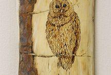 pirogravure bois motif