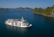 Paradise Elegance Cruise / Opened in March to redefine luxury cruising, the Paradise Elegance is an impressive escape to Halong Bay. A meticulously-designed steel boat that boasts grandeur architecture and classical interiors, inspiring travelers to explore the natural heritage and its mysteries beyond.