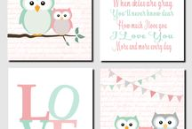 Baby room owl theme