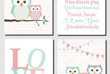 Baby room owl theme