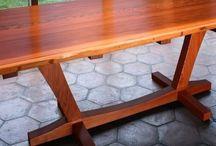 Redwood table design ideas