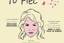 El lenguaje de tu piel / Imágenes e infografías de los mensajes que te da tu piel sobre tu estado mental, emocional, físico y energético.