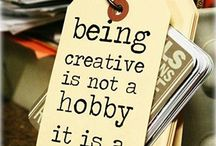About being creative