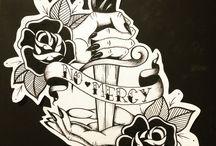 dark tattoo sleeve idea