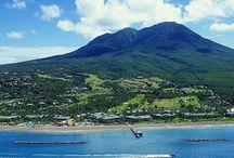 """Nevis - Caribbean / Green and serene, Nevis is truly one of the remaining unspoilt places and proudly carries the name, """"Queen of the Caribees."""" From the top of the 3,232-foot Nevis Peak to the depths of the clear waters offshore, there is a world of flora and fauna to be explored.  / by RumShopRyan - Caribbean Blog"""