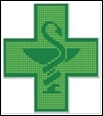 Cruces para farmacias / Cruces fabricadas con LEDs en diferentes colores y estilos.