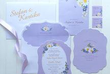 Stefan & Kartika / Floral Wedding Invitation & Stationery