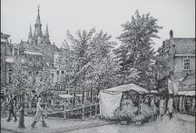 Historische plaatjes Delft / Verzameling van bijzondere oude plaatjes, tekeningen en foto's van Delft