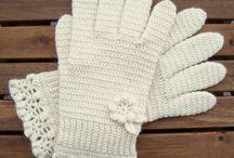 rękawiczki szydełkowe