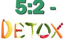 5:2-detox / 5:2-metoden med två detoxdagar i veckan. Inget fokus på kaloriräknande utan istället på ren och stärkande detoxmat i mindre mängd för bättre hälsa och viktnedgång. Grupper startar måndasvis på Facebook. Läs mer på: http://ulrikagabriel.blogspot.se/p/52-detox.html