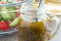 Salade en dressings