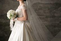 婚礼 / wedding  和装 白無垢 色打ち掛け ドレス 色ドレス