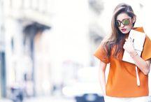 Orange Top / Very colorful spring look
