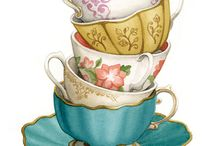 Tea cup art painting