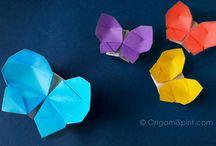 origami caixa borboleta