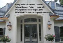 Tuscan Gas Lanterns / Tuscan Gas Lanterns by Sheryl Stringer, Natural Gas Lights, Natural Gas Lamps, Natural Gas Sconces