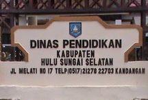 Alamat Sekolah di Kabupaten Hulu Sungai Selatan