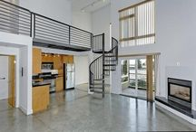 Sexy Condo/Lofts, Downtown Oakland / Built in 2002, these amazing lofts have been recently updated and feature 18' ceilings, polished concrete and/or hardwood floors, gas fireplace, private terrace, gourmet kitchen and sexy spiral staircases. Ideal commuter location -- Walk to BART or hop on the freeway a block away. Friday Farmer's market and local boutiques are all nearby. Catch the free B-line Shuttle at Broadway and head to Oakland's Uptown District or Jack London Square – the Best of Oakland is well within reach.