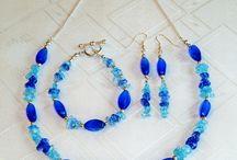Blue Jewelry Making