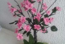 horgolt bonsai
