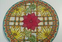 mandalas - lápis de cor / Mandalas