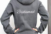 Bridesmaid Full zip hoodie