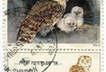 フクロウ切手
