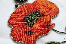 Bead embroidery / Wonderful bead emboidery works