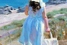 arte con niñas / Espectaculares imágenes de cuadros, pinturas, esculturas y más relacionadas con niñas