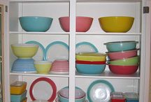 Paddycake, Paddycake, baker's man, Bake me a cake as fast as you can; Roll it, pat it, mark it with a B, Put it in the oven for baby and me! / Vintage/Retro bake-ware in all sorts of fun colours and patterns!