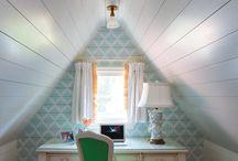 Tiny attic offices