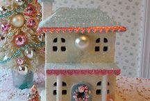 Glitter houses.
