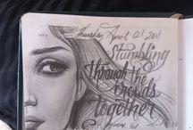 *Kat von D sketches*