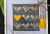 Wedding gift money. Peníze jako svatební dar