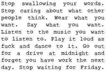 Words that speak to me