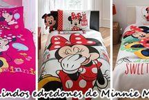 Edredones de minnie mouse para habitaciones infantiles