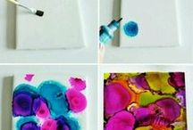 DIY Ink Crafts / Projects to make with ink, how to and tips.