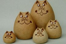 Pottery : Cats