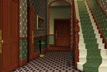 Victorian house interiors / Ideas for furnishing a period dolls house