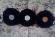 cuscini vinile / cuscini interamente realizzati a mano a forma dei vecchi dischi in vinile