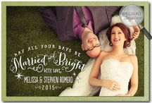 Just Married, Newlywed, Merry and Married Holiday Photo Cards!
