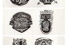Badges, logos, vintage