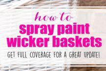 Wicker Baskets DIY / How to easily DIY your Wicker Baskets