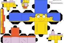 The Simpsons paper craft cube figures / printable D.I.Y cube figures