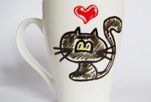 Mugs / Kubeczki ręcznie malowane