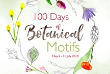 100 Days of Botanical Motifs with Louise / Diving into the 100 Days Project for 2018 with Botanical Motifs. Botanical Motifs are a lovely design of a blooms, flower, leaf etc that can be used for Botanical Mandalas. My new book 'Botanical Mandalas' will be available May 2018.